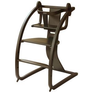 Sdi Fantasia Bambini バンビーニ + baby set 日本製 チェア ダークブラウン STC-05(椅子 子供 乗用玩具 木馬 おもちゃ 足置き 木製 ベビーチェア ハイタイプ)|tricycle