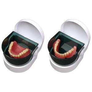 タイマー式入れ歯洗浄機 2個組(高速振動 シルバー 介護 用品 入歯洗浄器 ランキング 定番 上下 携帯)|tricycle