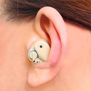 耳穴式 小型簡易集音器 2個セット(補聴器 イヤホン イヤフォン 両耳対応 シルバー用品)|tricycle