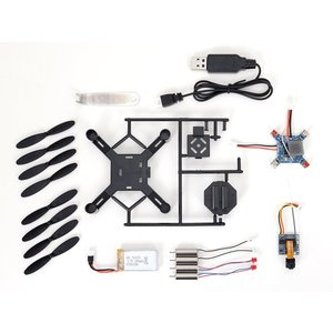 G-FORCE ジーフォース LIVE CAM DRONE ASSEMBLY KIT DX 送信機付 GB390 DIYドローンキット(ドローン カメラ付き 簡単操作)|tricycle