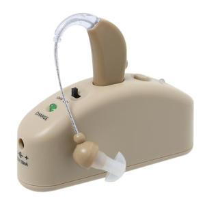 2WAY 充電式 集音器 DL-70706(耳かけタイプ 補聴器 シルバー用品)|tricycle