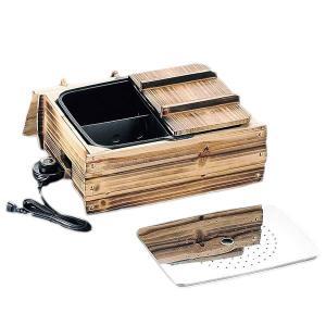 ふるさとのれん 電気多用途おでん鍋(家庭用 角型おでん鍋 目皿 仕切板付 鍋 料理 卓上 調理器具 キッチン 便利 グッズ)|tricycle