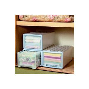 押入れ 収納 BOX ボックス ロング収納ケース 3個組 ブルー 30タイプ|tricycle