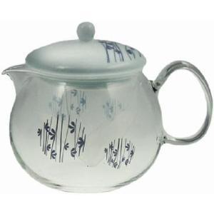 セレック 藍雫 耐熱ガラスポット つるの葉(ティーポット ガラス おしゃれ 紅茶 中国茶 ハーブティー 珈琲)|tricycle
