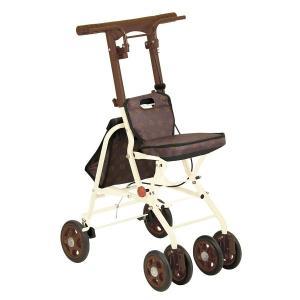 幸和製作所 テイコブ TacaoF シルバーカー コンパクトタイプ シプール SICP02 ブラウン|tricycle