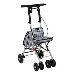 幸和製作所 テイコブ TacaoF シルバーカー コンパクトタイプ シプール SICP02 チェックブラック|tricycle