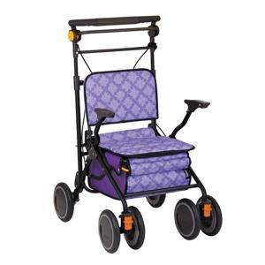 幸和製作所 テイコブ TacaoF シルバーカー スタンダードタイプ カゴノアL パープル|tricycle