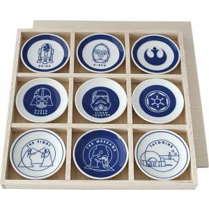 STAR WARS スター・ウォーズ レトロ和モダンコレクション 小皿9Pセット 木箱入(和食器 食器 ギフト 贈答品 キャラクター グッズ)|tricycle