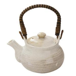 5号土瓶 白掛分 800ml カップ網付(茶こし 和食器 茶器 急須 陶器 日本製 おしゃれ)|tricycle