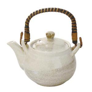 4号土瓶 白掛分 600ml カップ網付(茶こし 和食器 茶器 急須 陶器 日本製 おしゃれ)|tricycle