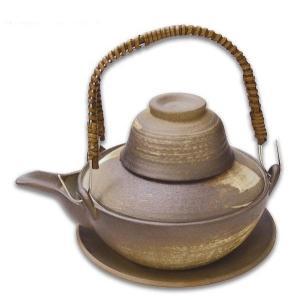 土瓶むし 平型 260ml 焼締刷毛目(蒸し 和食器 茶器 急須 陶器 日本製 おしゃれ)|tricycle