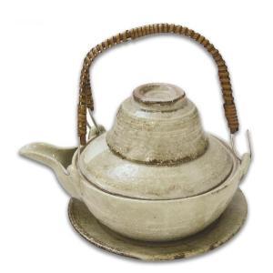 土瓶むし 平型 260ml 武蔵野刷毛目(蒸し 和食器 茶器 急須 陶器 日本製 おしゃれ)|tricycle