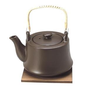 耐熱8号土瓶 へるしー 茶 1.5L 敷板付・印刷箱入(土瓶 直火用 1.5リットル 和食器 茶器 急須 陶器 やかん 日本製)|tricycle