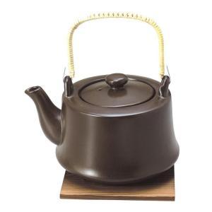 耐熱10号土瓶 へるしー 茶 2L 敷板付・印刷箱入(土瓶 直火用 2リットル 和食器 茶器 急須 陶器 やかん 日本製)|tricycle