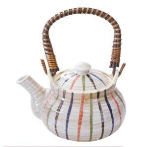 5号土瓶 色十草 760ml カップ網付(茶こし 和食器 茶器 急須 陶器 日本製 おしゃれ)|tricycle