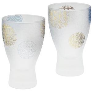 ザ・プレミアムニッポンテイスト プレミアム丸紋 酒グラス ペアセット(日本酒 ガラス冷酒器セット)|tricycle