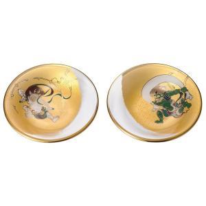 風神雷神 丸皿ペアセット(和食 料理 小物置き トレイ 小皿 和食器 ギフト 木箱入)|tricycle