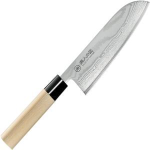 燕人の匠 ダマスカス 三徳包丁 165mm(和 万能 包丁 日本 製 刃物 コバルト合金鋼)Made in TSUBAME