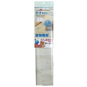 防水模様替えシート トイレ床全面用 90cm×200cm クリーム(木目 床 フロア シート フローリング 傷防止)|tricycle
