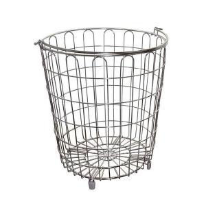 ステンレスランドリーバスケット(インテリア 雑貨 ランドリーラック バスケット)|tricycle