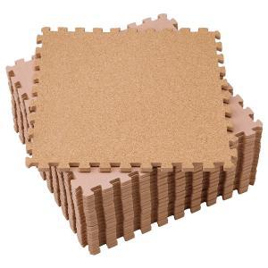 コルクマット18枚組(ジョイントマット 大判 やさしい 6畳 8畳 天然素材 防音 カーペット 床)|tricycle