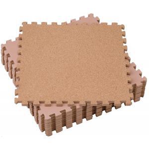 コルクマット9枚組(ジョイントマット 大判 やさしい 6畳 8畳 天然素材 防音 カーペット 床)|tricycle