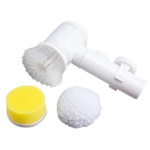 コードレスお掃除ブラシ(掃除 道具 用品 便利 グッズ お風呂 洗面所 キッチン 洗面台 浴槽 タイル 電動 回転 スポンジ)|tricycle