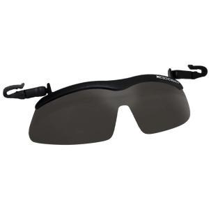 帽子につける 偏光サングラス キャップクリップ サンシェード(ヘルメット 用 ゴーグル 作業用 眼鏡の上からサングラス)|tricycle