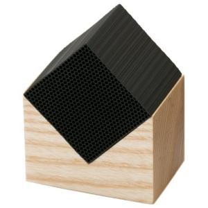 CHIKUNO CUBE(チクノキューブ)HOUSE 小 自然の空気清浄 (竹炭 効果 チャコール パウダー 消臭 除湿 調湿 インテリア おしゃれ ギフト シックハウス 対策)|tricycle