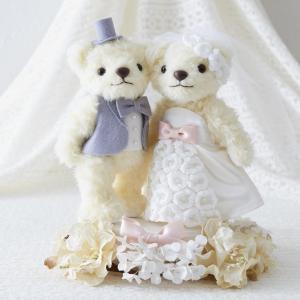 クロバー ウェディングベア(ウェルカムドール 人気 ウェディング ドール 結婚式 clover)