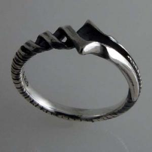 EVA×花唐草 collaboration SILVER ロンギヌスの槍ring(エヴァンゲリオン ガイナックス グッズ) tricycle