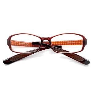 折りたたみ首掛け老眼鏡 スクエア ブラウンチェック(女性 男性 携帯 用 シニアグラス コンパクト タイプ シルバー 用品)|tricycle