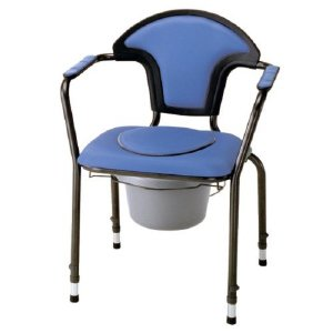 らくらくポータブルトイレ(移動式 介護用ポータブルトイレ 本体 家具調 介護 シルバー 用品)|tricycle
