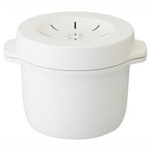 電子レンジスチームご飯メーカー(電子レンジでご飯を炊く 炊飯 鍋 電子レンジ 調理 器 具 簡単 時...
