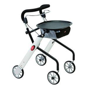 レッツゴーミニ 室内専用歩行車(歩行器 高齢者 タイヤ ブレーキ付き コンパクト シルバー カー 介護 用品)|tricycle