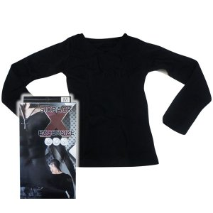 シックスパックエクササイズ ロングスリーブTシャツ(加圧下着 着圧 インナーウェア ベルト)|tricycle