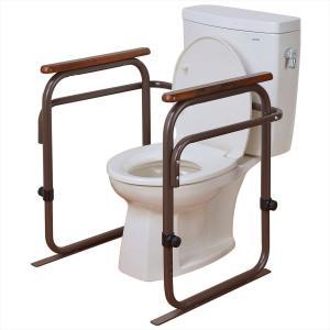 介護用品 日本製 トイレ用アーム 6段階高さ調節可能(手すり 転倒防止 シルバー グッズ)|tricycle