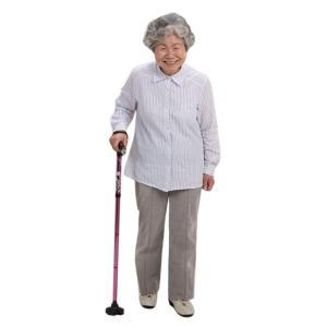 LEDライト付き4点自立お洒落ステッキ WALK SUPORT(歩行 杖 ウォーキングステッキ 折りたたみ 高齢者 シルバー 用品 女性)|tricycle