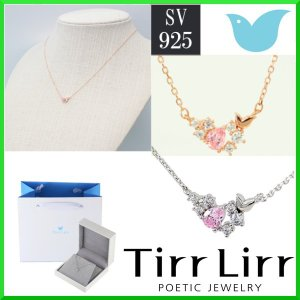 TirrLirr  ネックレス  2カラー選択可 シルバー925 ホワイト ピンクゴールド キュービック スワロフスキー ギフトにオススメ♪  ティルリル tns-014 114|trideacoltd