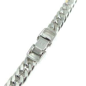 シルバー ネックレス 2面W喜平 φ1.00 50cm 25g 中折 純金/ロジウム コーティング|trideacoltd
