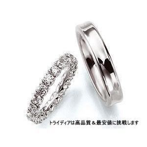 LuxueuxリュックスLX103写真左Pt900プラチナリング結婚指輪|trideacoltd