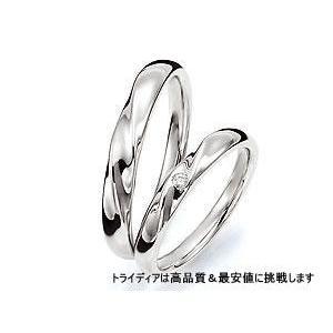 パルティール 左Pt900プラチナリング結婚指輪マリッジ|trideacoltd