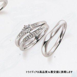 レヨン 右Pt900プラチナリング結婚指輪マリッジダイヤモンド|trideacoltd