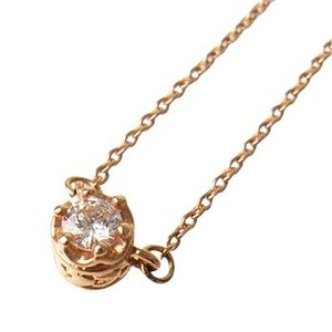 K10PG一粒ダイヤPNネックレス(PinkGold)金受注生産95-0126|trideacoltd