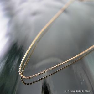 カットボールネックレスK18PG 幅0.6mm40cm0.8gスライドA06 trideacoltd