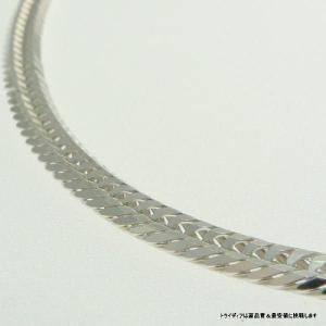 喜平ネックレス12面トリプルK18WG 幅3.5mm50cm20g中折検定F065|trideacoltd