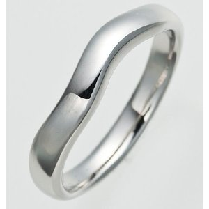 Pt900甲丸ウェーブプラチナマリッジリング結婚指輪TRK252|trideacoltd