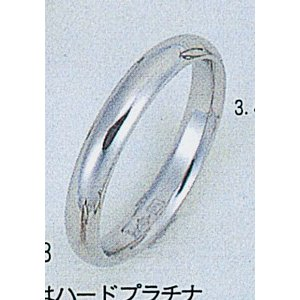 Pt1000甲丸ハードプラチナ3.4mmマリッジリング結婚指輪TRK261|trideacoltd
