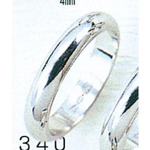 Pt900甲丸4mmプラチナマリッジリング結婚指輪TRK340|trideacoltd
