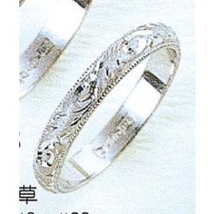 Pt900甲丸唐草3mmプラチナマリッジリング結婚指輪TRK343|trideacoltd